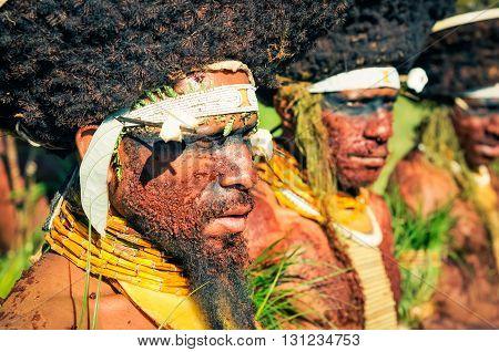 Man With Beard In Papua New Guinea