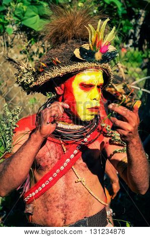 Make-up Preparation In Papua New Guinea