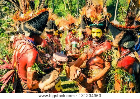 Crowd Of Colours And Traditions In Papua New Guinea