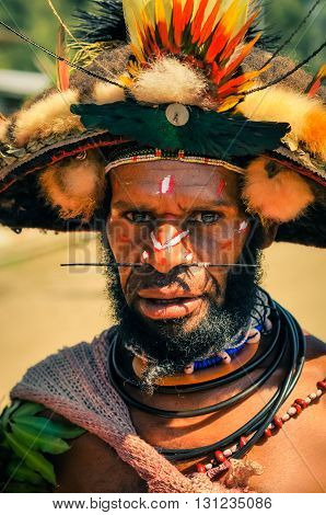 Colours And Pierced Nose In Papua New Guinea