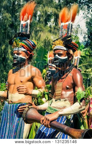 Boys At Show In Papua New Guinea