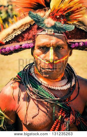 Man And His Look In Papua New Guinea