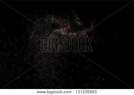 Colorful Confetti Bitmap. Colorful Grainy Texture Bitmap.