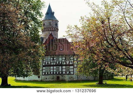 Medieval castle Oelber in Lower Saxony. Germany