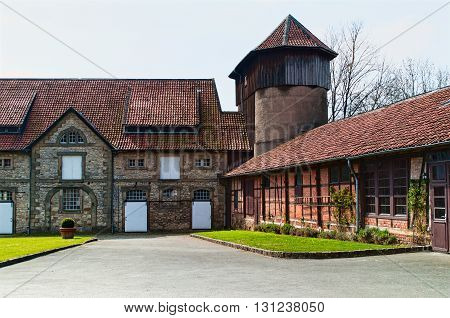 An old truss courtyard in Lower Saxony. Germany