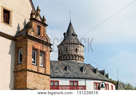 View on the medieval castle Oelber in Lower Saxony. Germany