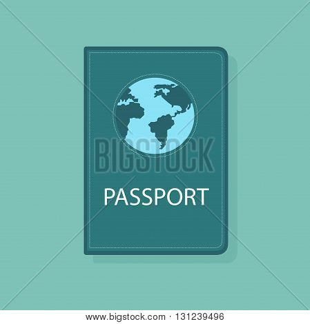Bright color Passport international document concept vector illustration