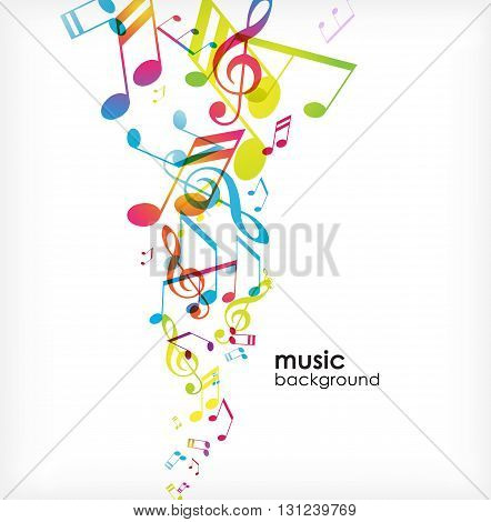 Abstract background with colourful tunes. Vector art