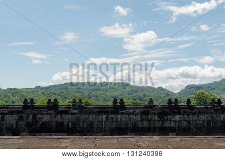 fence of temple in ratu boko temple complex