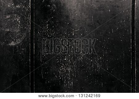 Black Grunge Background / Dark Wall Texture with scratches