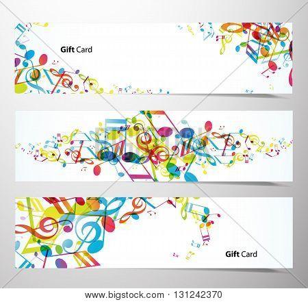 Set of website banners with tunes. Vector art
