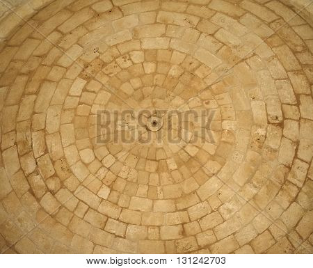 Round masonry, dome, ancient structure, background, architecture