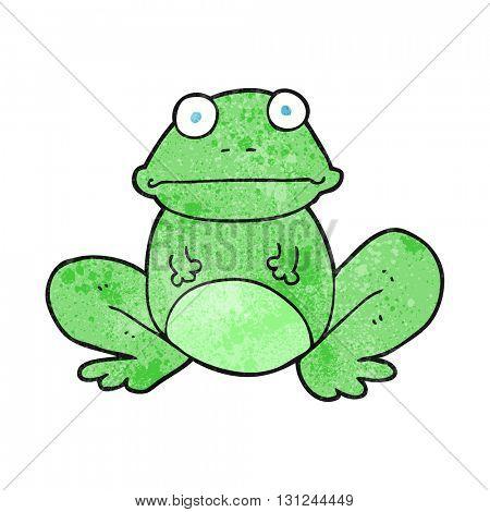freehand textured cartoon frog