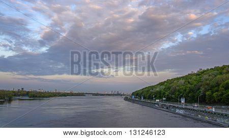 Ukraine Kiev views of the Dnieper River