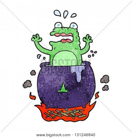 freehand textured cartoon funny halloween toad