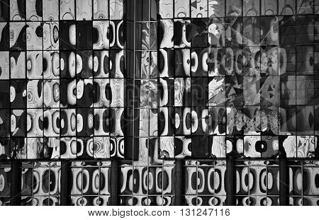 Abstract background with high contrast in black and white colors