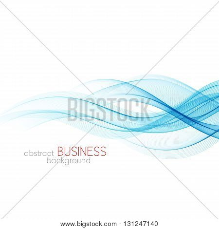Abstract background, blue transparent waved lines for brochure, website, flyer design. Blue smoke wave. Blue wavy background