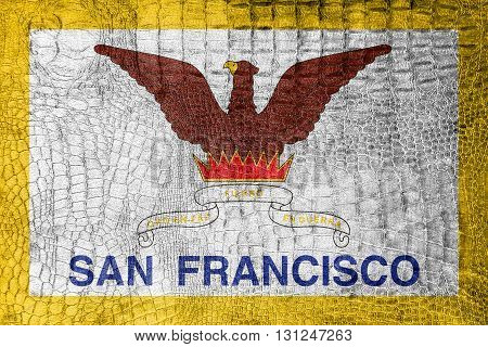 Flag Of San Francisco, California, On A Luxurious, Fashionable C
