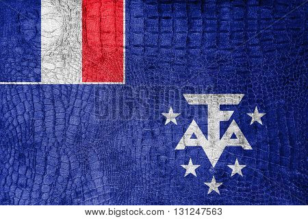 Flag Of The French Southern And Antarctic Lands, On A Luxurious,