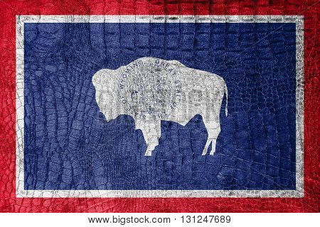 Flag Of Wyoming State, On A Luxurious, Fashionable Canvas
