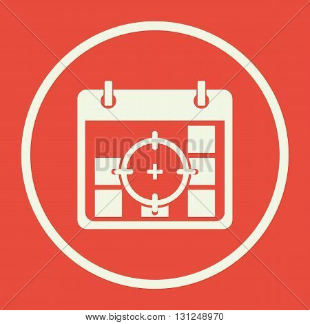 Deadline Icon In Vector Format. Premium Quality Deadline Symbol. Web Graphic Deadline Sign On Red Ba