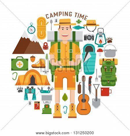 Hiking And Camping Gear Collection