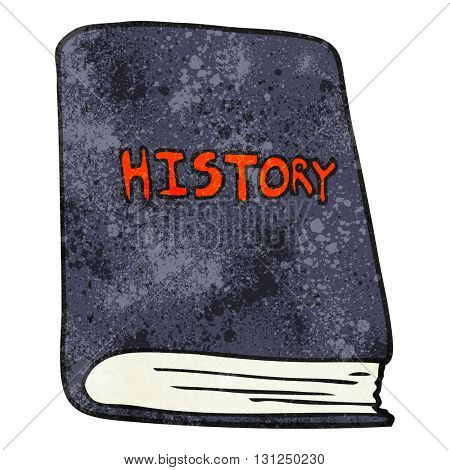 freehand textured cartoon history book