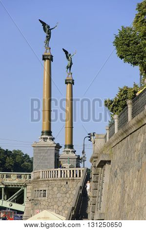 The Pylons of Czech's Bridge in Prague