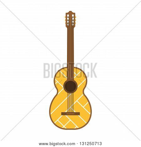 Acoustic Vector Guitar Illustration