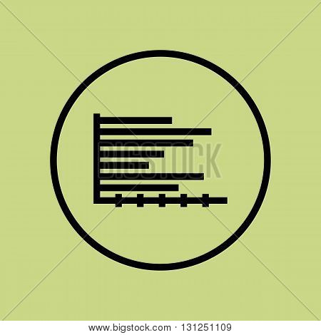 Horizontal Icon In Vector Format. Premium Quality Horizontal Symbol. Web Graphic Horizontal Sign On