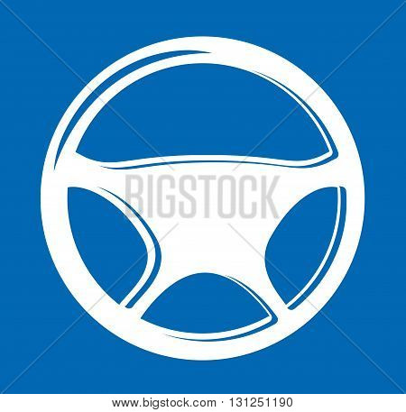 Vector Sign in the form of auto Steering wheel