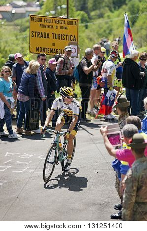MONTEMAGGIORE Italy - may 20. 2016: Hofland Moreno - LOTTO NL - JUMBO during Giro di Italia 2016 13st stage 170km