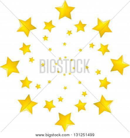 Vector illustration of a yellow star set