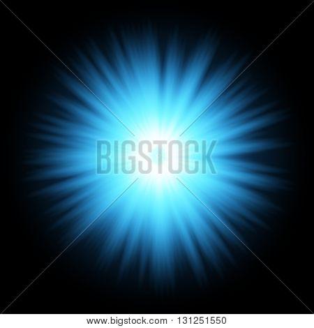 Blue color design with a burst. Blue star light