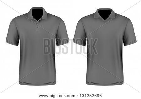 Men's polo shirt. Vector illustration. Fully editable handmade mesh.