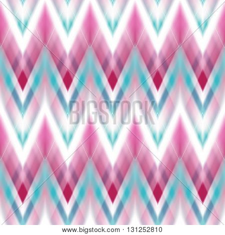 seamless ikat ethnic pattern. Boho design. Ethnic Colored seamless zigzag patten