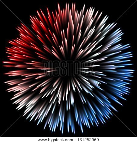 color design with a burst. Holiday fireworks