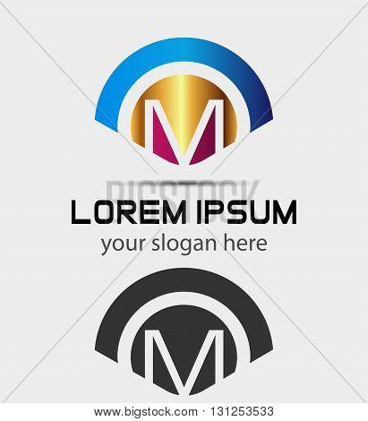 Letter M Logo Design.Creative Symbol of letter M