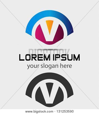 Letter V Logo Design.Creative Symbol of letter V