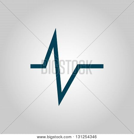 Pulse Icon In Vector Format. Premium Quality Pulse Symbol. Web Graphic Pulse Sign On Grey Background