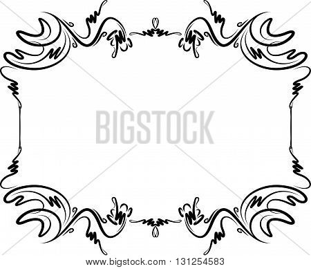 Unusual, decorative lace ornament, vintage frame with empty place for your text. Vector illustration greeting