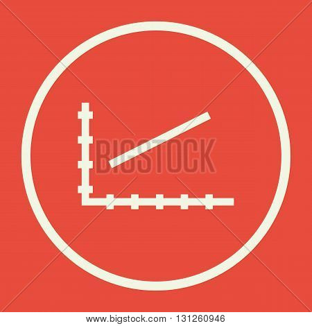 Line Chart Icon In Vector Format. Premium Quality Line Chart Symbol. Web Graphic Line Chart Sign On