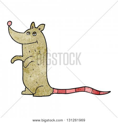 freehand textured cartoon rat