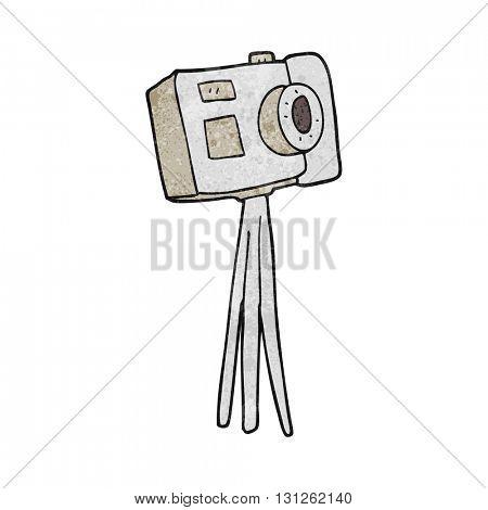 freehand textured cartoon camera on tripod