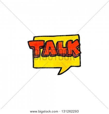 freehand textured cartoon talk symbol