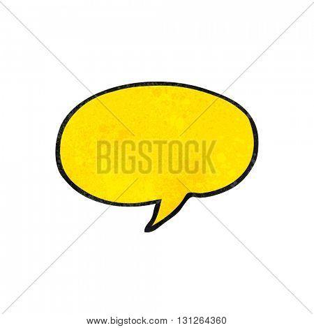 freehand textured cartoon speech bubble