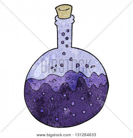 freehand textured cartoon chemicals