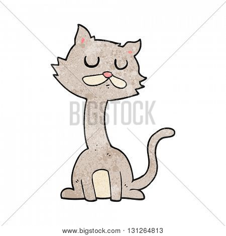 freehand textured cartoon cat