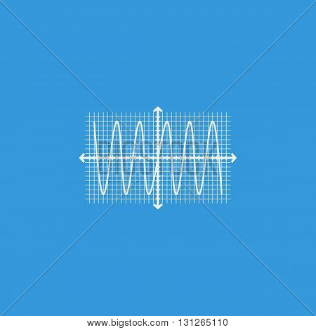 Sinusoid Icon In Vector Format. Premium Quality Sinusoid Symbol. Web Graphic Sinusoid Sign On Blue B