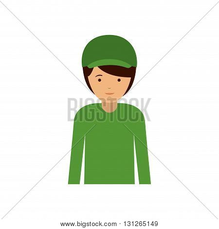 male officer design, vector illustration eps10 graphic
